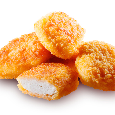 Nuggets isolated. With clipping path