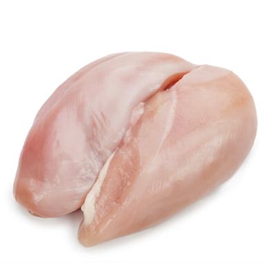Pechuga de pollo (con hueso : sin piel)